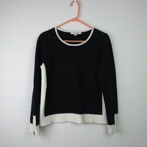Boden Cotton/Wool blend Zipper Sleeve Top LS (8)